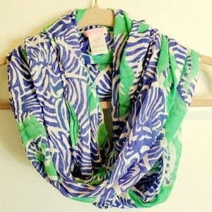 LILLY PULITZER Riley I Herd You Zebra Print Scarf